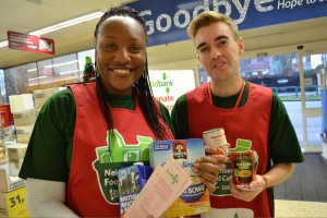 Volunteers at Tesco Collection